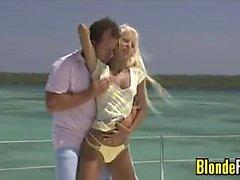 Blonde Teen Fucking Outside On A Boat