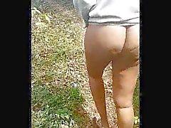 Outdoor alasti kävelylle metsänvihreä