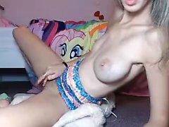 Webcam amatööri teetä iso boobs show
