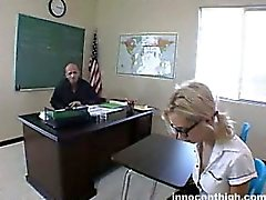 Nice Nerdy blonde schoolgirl about to get fucked