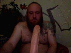 Бородатый ванта сосет большая пенис