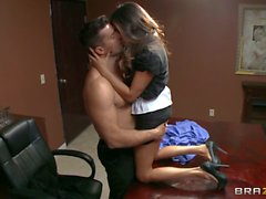 Office milf Ariella Ferrera gets her Big breasts banged