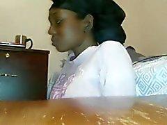 Ebony Deep Throat und ficken