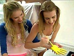 Zwei Koch blond Teens Engel sowie von Alexis Fingersatz Pussies