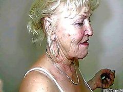 Блондинка бабуля с большой синицы танцами голые