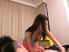 gyaru japonês Tan no POV Masturbação boquete rimjob orgia