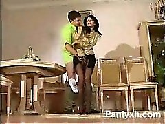 Kinky Pantyhose Teen Hungry Makeout