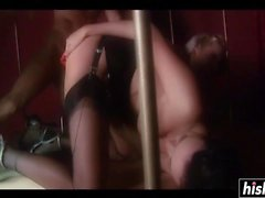 Fat dick can please two kinky girls