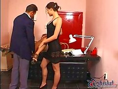 Hana Melonova & Kamila have office sex