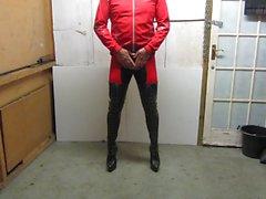 Более подробную из моего кожаные шнуруют вверх thighboots