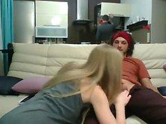 Hausgemachte heiße Amateur Dreier auf Webcam