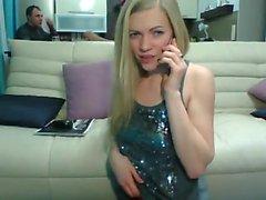 Casera trío de aficionados caliente en la webcam