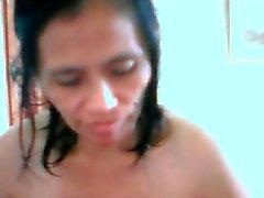 de Philippine âge mûr navares du editha faire nu sur la came