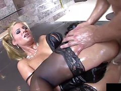 Phoenix Marie loves fucking in oil and shooting oil...