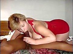 Esposa BBW Branco fodida e leva Cream Pie