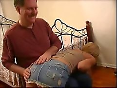 American pornstar Kayla Synz spanked by old man