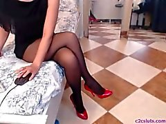 Ноги колготках веб показа - FaceTime подружка
