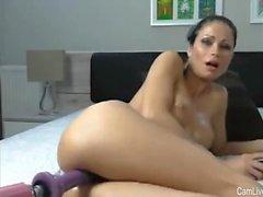 Sexy Milf Dildo Machine Drilled On Camlivehub