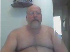 Dad Nu Cabeludo na Webcam