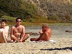 3 homofile på stranden