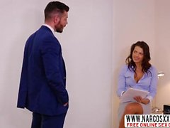 Brunette Step Mom Keisha Grey Fucks With Son On The Table