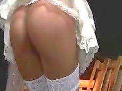 Unterwürfig Braut spanked