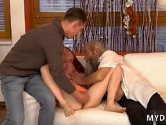 Old cock xxx Unexpected practice with an older gentleman
