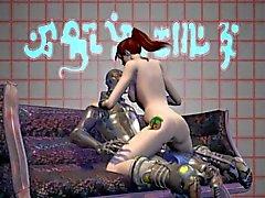 3D Porno Mation Los monstruos cogida Zuma y arreglada 04 -