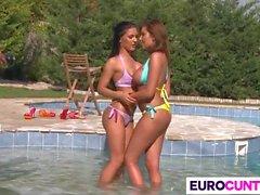 Forage Euro Babes Donna Bell et Honey Damon