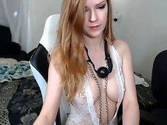 Amateur betrunken Küken verlor die Kontrolle masturbieren auf Webcam