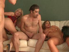 Group sex with blowjobs, double penetration, anal and much more