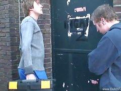 Дикий Threesome В Dutch подросток в Голландией