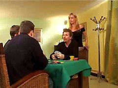 Elsa blonde wife fucked by two Husband Friend
