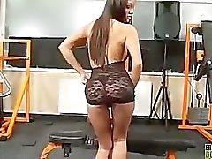 Angelica Heart Esel zu ersticken eines Sitting Sklaven
