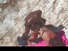Estrangeiro - Hidden Cam Paar, schwarzer Kerl fickt großen Hintern