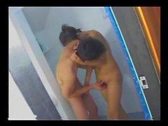 ayntritli Tayland Banyoda Sıktı