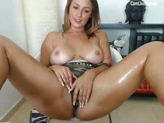 más caliente adolescente en ser la masturbación en la webcam