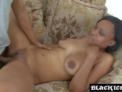 Busty ebony drilled by BBC and blasted with juicy cum