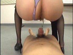 Japanische Domina Massage Facesitting Feet Fetisch mit Öl