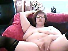 Mollig Amateure Oma masturbieren vor der Webcams