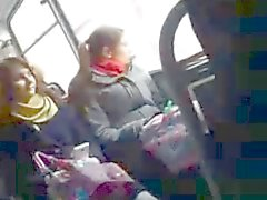 DICK Flash curioso di ragazza con l'autobus
