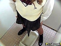 Rubbing japanese peeing