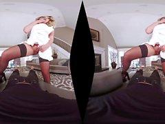 Big ass Hottie Brooke Wylde reitet Schwanz Cowgirlart VR