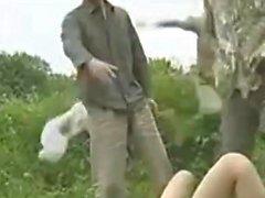 Sizzling heiße asiatische Verführerin hardcore outdoor Fuck