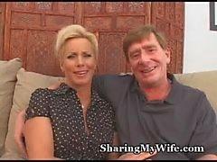 Äldre par Rekryterar Tjur att knulla Hustru
