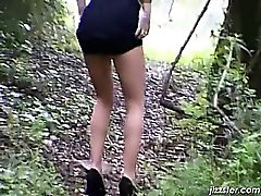 Adorable bitch in high heel taking