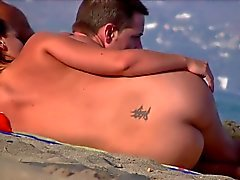 Nice ass , flache Oberseite im FKK-Strand 02.