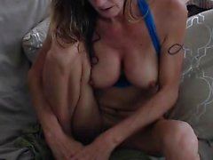 Mulher Big mamas naturais chupar de banana webcam em directo