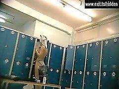 Amateur girls nude in a locker room