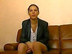 Casting harige anale Franse meisje